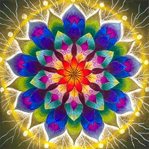 Lysel Mandala 'Wijsheid' 15x15