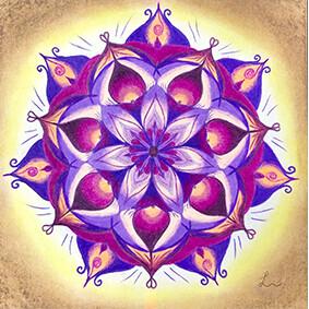 Lysel Mandala 'Ruimte Nemen' 30x30