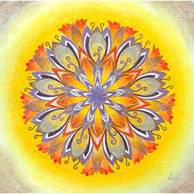 Lysel Mandala 'Vertrouwen' 15x15