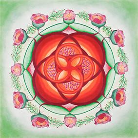 Lysel Mandala 'Het Leven gedragen diep in Moederschoot' 50x50