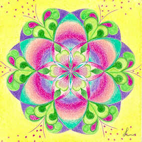 Lysel Mandala 'Zaaien' 15x15