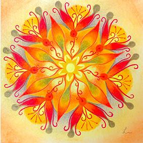 Lysel Mandala 'Doorbreken' 15x15