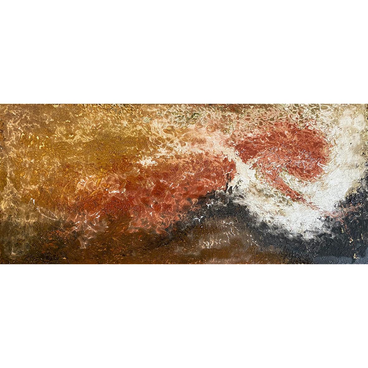 "Lysel Leem Art ""Gedragen door Licht"" / ""Carried by Light"" 180x80"