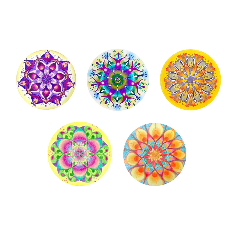 Lysel Magneet Buttons Mandala 'Helder' (5 stuks)
