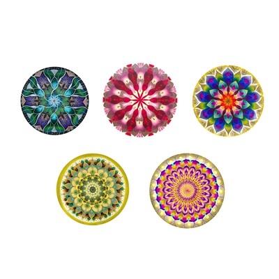 Lysel Magneet Buttons Mandala 'Intens' (5 stuks)