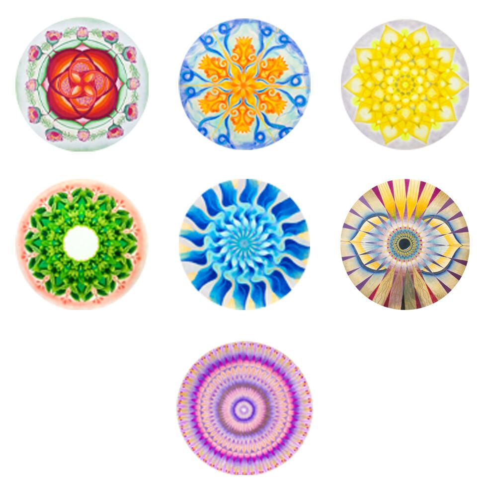 Lysel Magneet Buttons Mandala Chakrareeks (7 stuks)