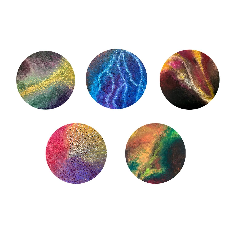 Lysel Magneet Buttons Art Acrylreeks (5 stuks)