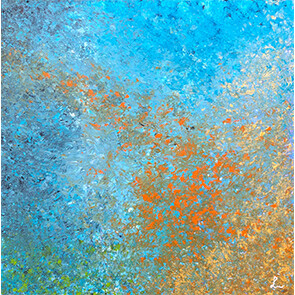 """Lysel Acryl Art """"Erin Springen"""" / """"Jump In""""  50x50"""