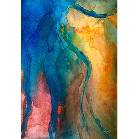"Lysel Aquarel Art ""Onverwacht"" / ""Unexpected"" 18x25"