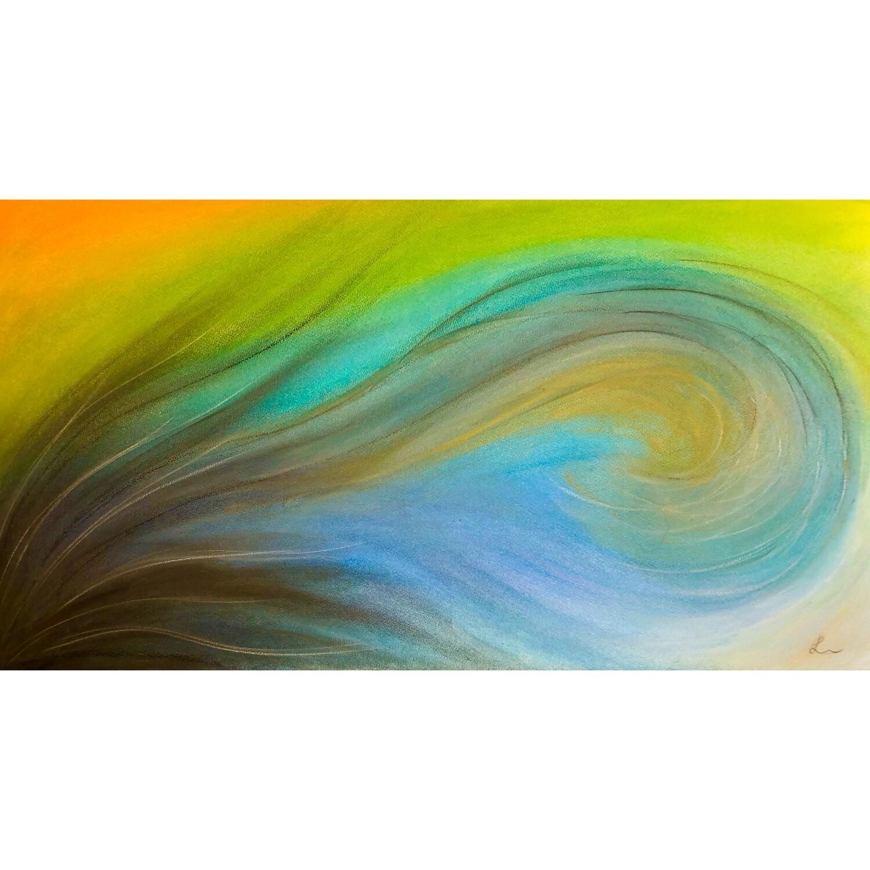 """Lysel Pastel Art """"Overspoeld"""" / """"Overflowed"""" 45x75"""