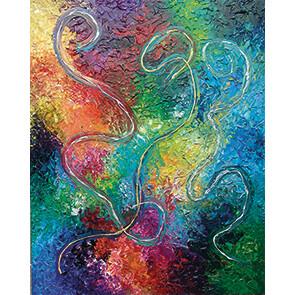 Lysel Acryl Art 'Bevrijd je Kleuren' / 'Free your Colors' 120x150