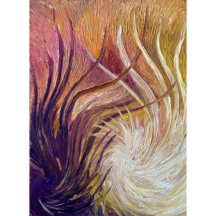 Lysel Acryl Art 'Verschillend in Hetzelfde' / 'Different in the Same' 60x80