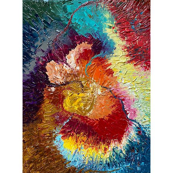 Lysel Art Acryl 'Bloemenkracht / FlowerPower' 80x60
