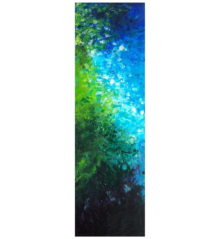 """Lysel Acryl Art """"Tropisch Water"""" 120x40 (ook als wenskaart)"""
