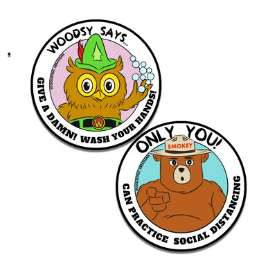 Be Aware Mascot Sticker Set