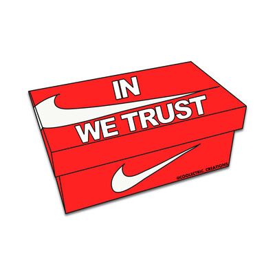 In Swoosh We Trust Sticker