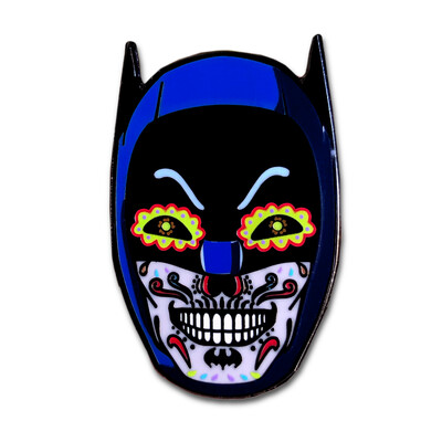 Caped Crusader Skull Pin