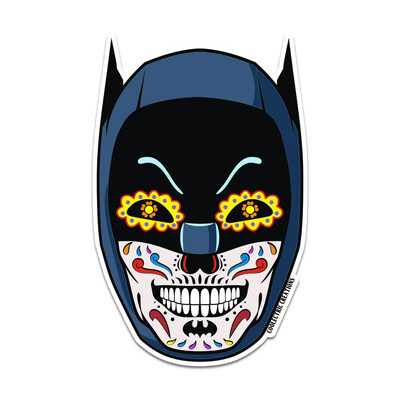 Caped Crusader Skull Sticker