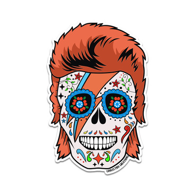 The Starman Skull Sticker