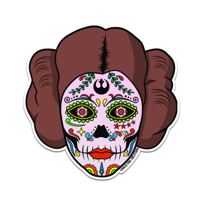 Rebel Princess Skull Sticker
