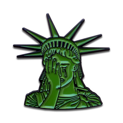 Crying Lady Liberty Pin