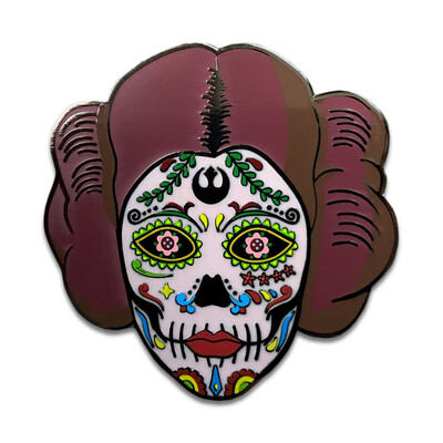 Rebel Princess Skull Pin