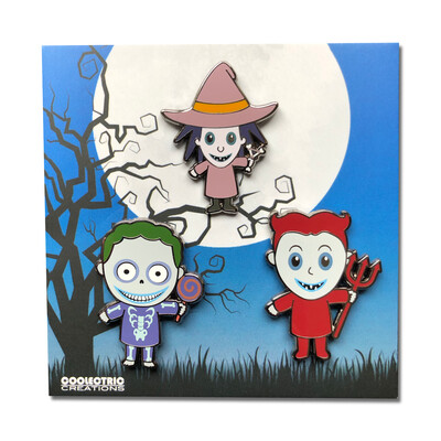 Boogie's Mischievous Trio Pin Set