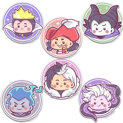 Chibi Villains Stickers