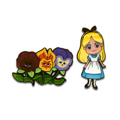 Alice & the Golden Afternoon Flowers Set