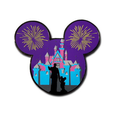 The Happiest Place at Night Magic Pin