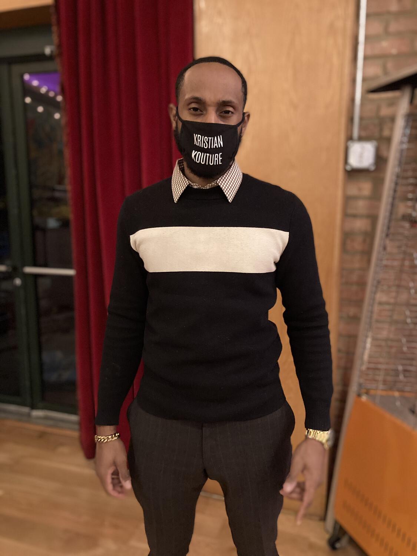 Kristian Kouture -Black Logo Mask
