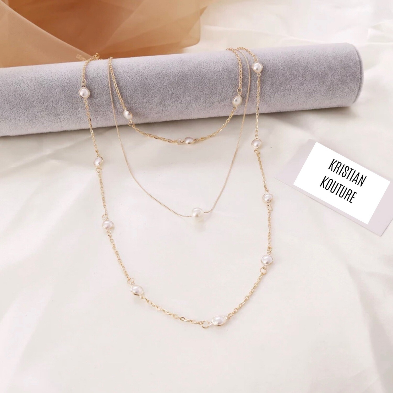 Clavicle 3 Tier Chain Necklace