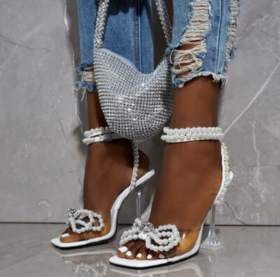 Pearl Bow Heel