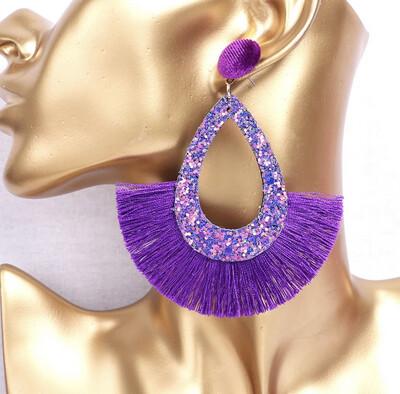 Farrah Fringe Cutout Earrings