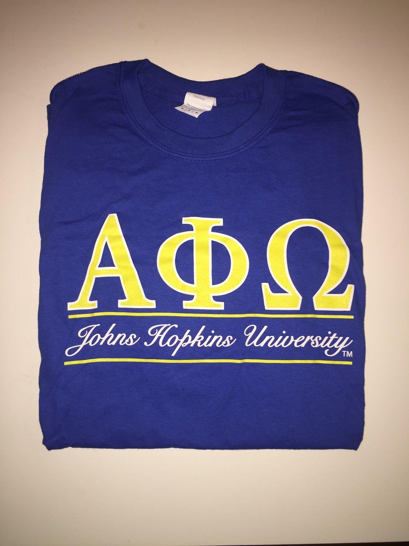 APO JHU Neon Letter Short Sleeve Shirt