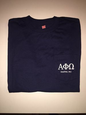 APO Navy Pocket Long Sleeve