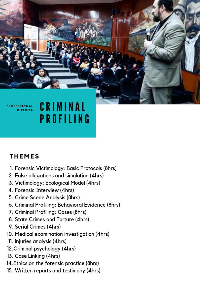 Professional Diploma - Criminal Profiling
