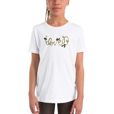 Beloved - Bella + Canvas 3001Y Youth Short Sleeve Tee with Tear Away Label