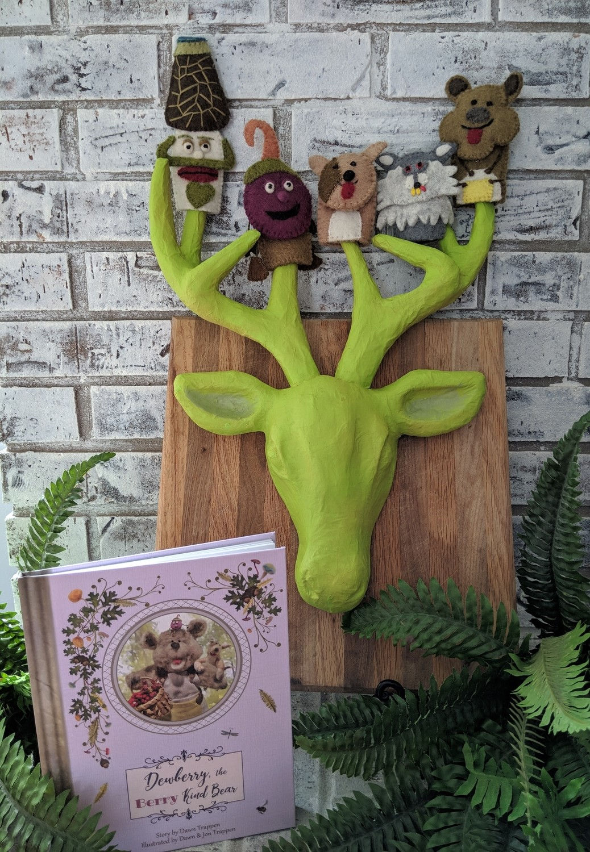 Dewberry the Berry Kind Bear Book & Finger Puppet Bundle