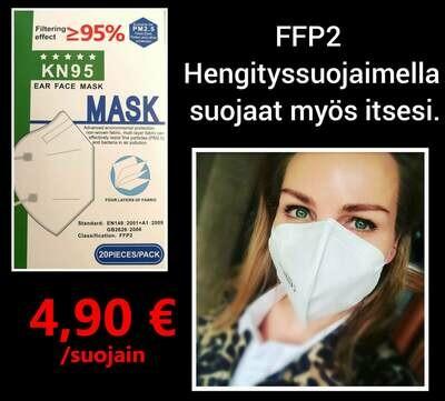 FFP2 hengityssuojain 20 kpl TESTIVOITTAJA
