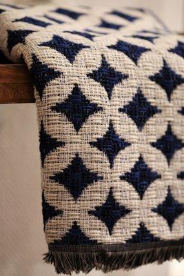 Mosaic white-blue scarf (Kaulahuivi)