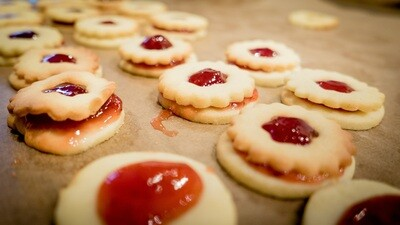 Linzer Tart Cookies 1 Dozen