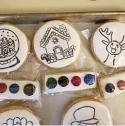 Paint your own Stenciled cookie!