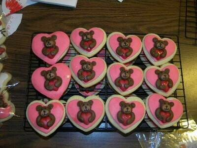 Teddy Bear Sugar Cookies - 1 Dozen