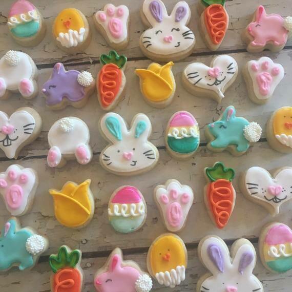 Decorated Easter Sugar Cookies