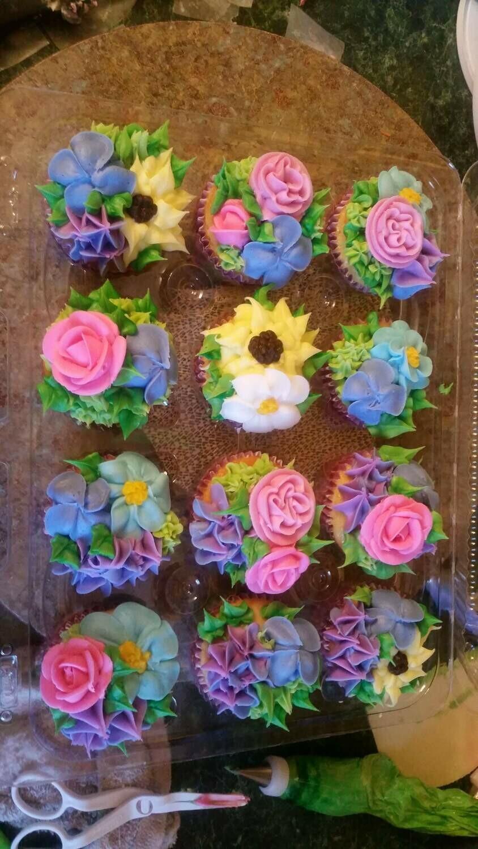 Floral Cupcakes 1 Dozen
