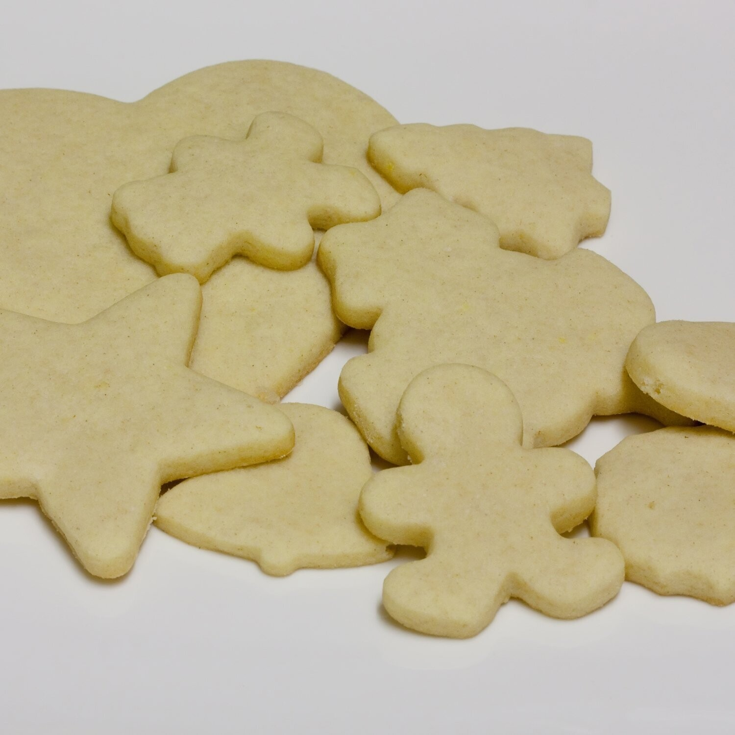 Sugar Cookie Cutouts - Coated with Sandy Sugar