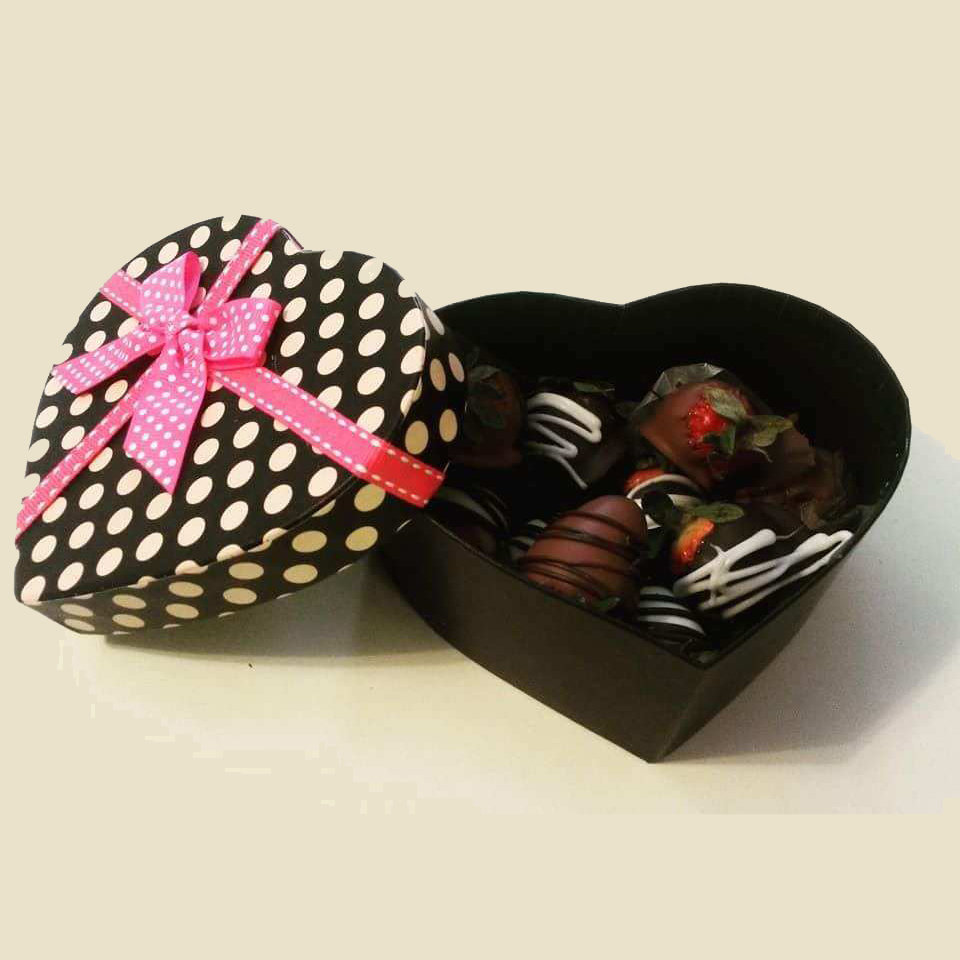 Decorative Gift Box Chocolate Covered Strawberries