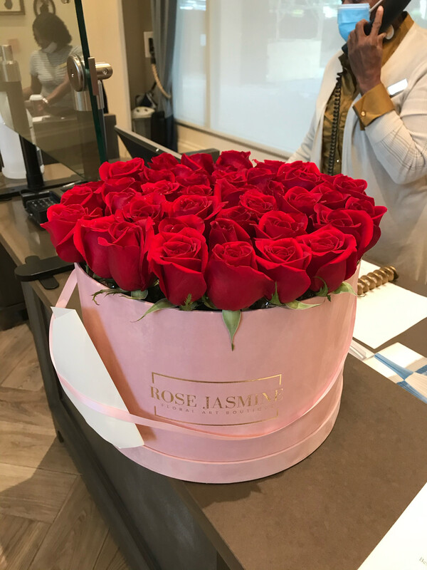 Grande Pink Box And Up To 4 Dozen Fresh Roses