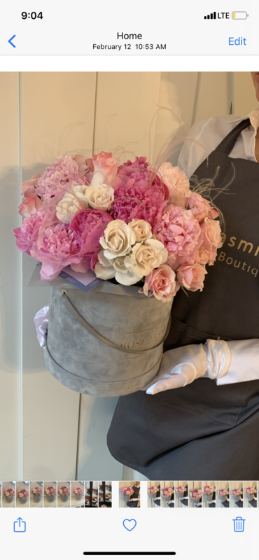 Dreamy Peonies In A Petite Box (Pre - Order Only)